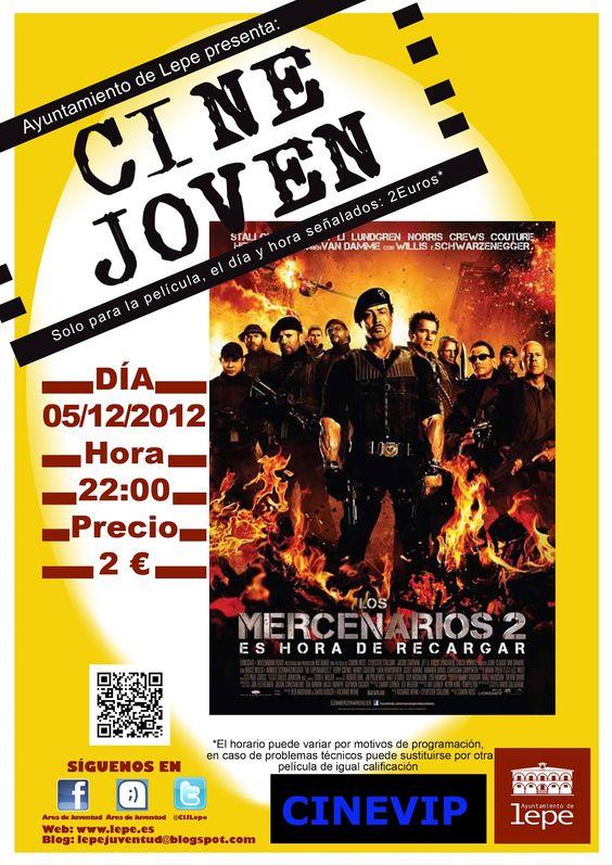Cine Joven presenta: Los Mercenarios 2. el 05/12 a las 22h en Cinevip Lepe.