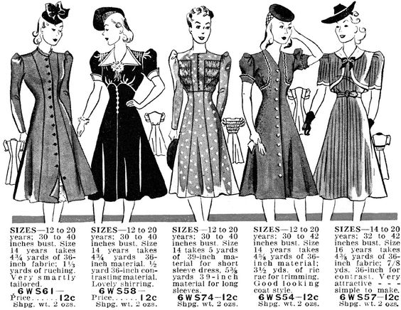 **FREE ViNTaGE DiGiTaL STaMPS**: 1940's fashion