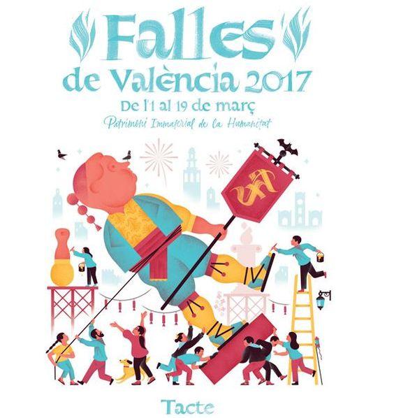 Cartel Fallas 2017: 'La fiesta de los sentidos':
