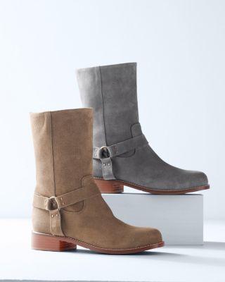Vicenza Italian Suede Boots - garnet hill