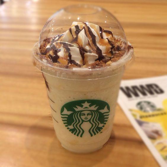 fresh banana caramel cream frappuccino