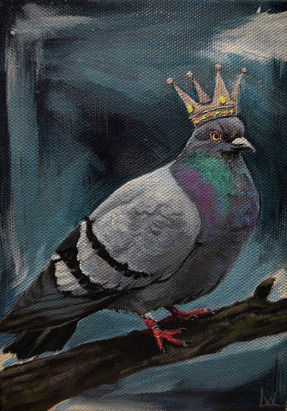Wood pigeon greeting card bird lover card