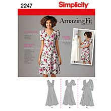 Buy Simplicity Amazing Fit Women's Dress Sewing Pattern, 2247 Online at johnlewis.com
