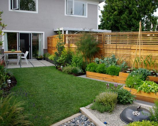 Awesome small garden design ideas in narrow space: Modern Home Garden Ideas  With Wooden Fence  tapja.com | Backyards | Pinterest | Small garden design,  ...