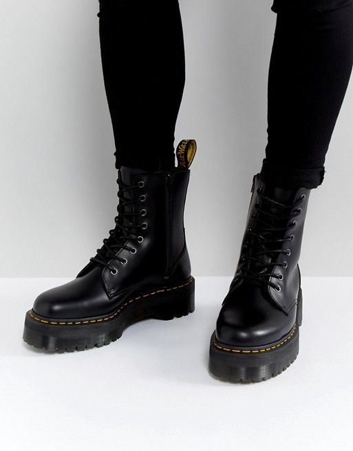 Asos Black Boots Men Dr Martens Jadon