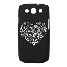 Heart with Science Icon Galaxy S3 Case