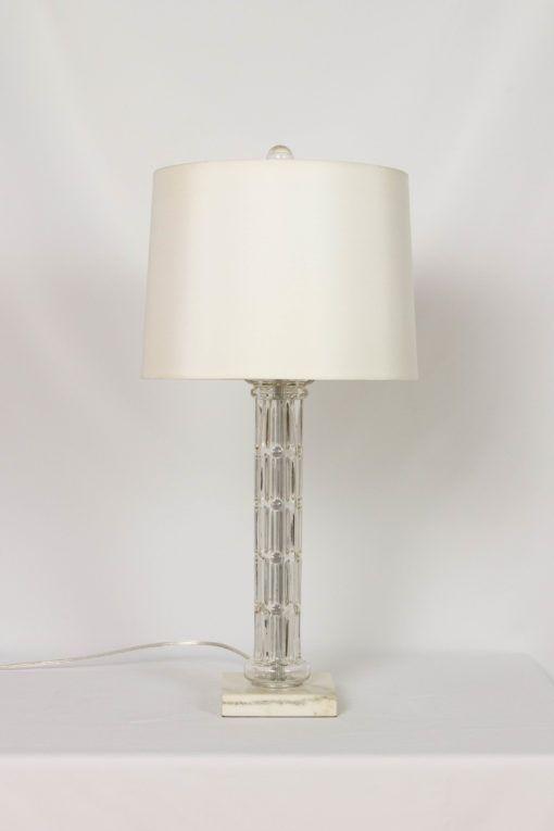 Glass Column Lamp With White Marble Base Appleton Antique Lighting Lamp Table Lamp White Marble