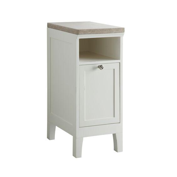 Allen roth norbury 13 in w x 32 3 in h x 19 5 in d white poplar linen cabinet f12 b 036 s - Allen roth bath cabinets ...