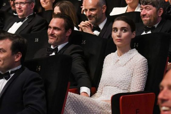 Joaquin Phoenix and Rooney Mara were rumoured to be hand in hand at the closing ceremony.