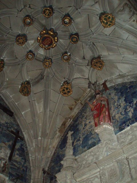 Teto da capela da igreja de São João do Souto
