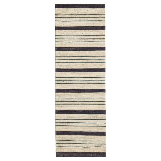 Multicolor Stripe Woven Area Rug - (2' x 8' Runner) - Anji Mountain,