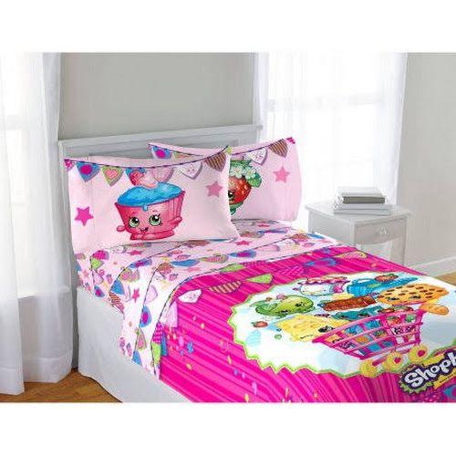 Google Express Shopkins Full Size Sheet Set 4 Pieces Shopkins Bedding Pink Kids Bedding