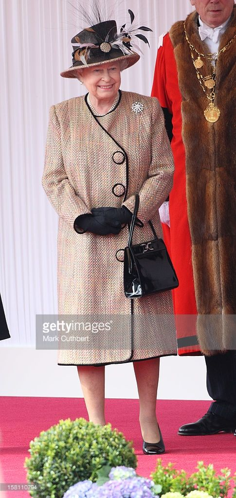 Hm Queen Elizabeth Ii Pictured At Windsor Awaiting The Arrival Of French…