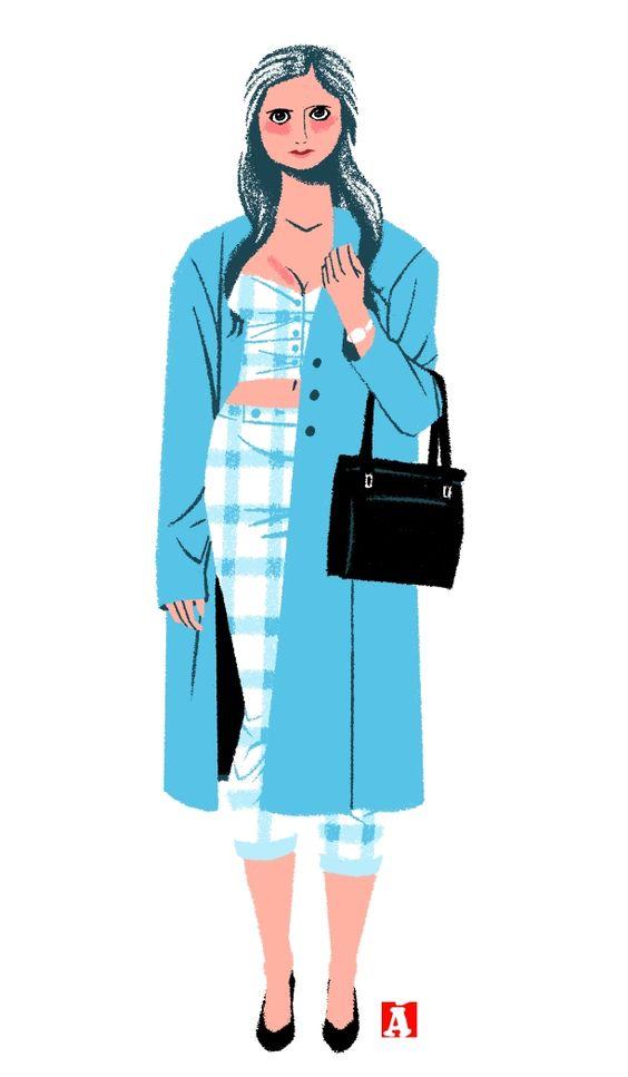 Illustrated Ladies — agreda: Dibujo basado en una foto del grandísimo...