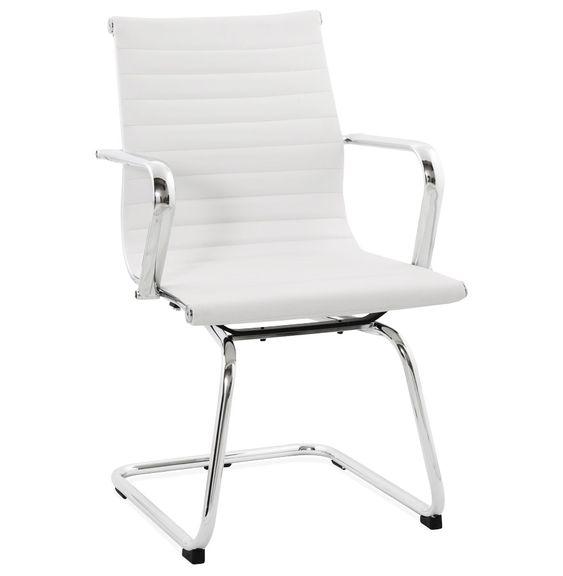 Fauteuil GIGA - Ce #fauteuil de bureau est doté d'un style particulier. Composé d'un siège en forme de mini boudin, son design fera également fureur autour de votre table de salon ! http://www.alterego-design.com/chaise-de-bureau-design-giga-similicuir-blanc.html