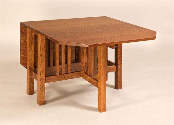 Amish renwick gateleg dining table craftsman amish and for Gateleg dining table
