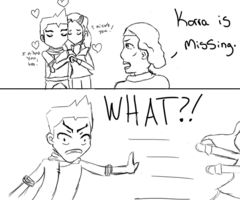 Basically the entire LoK love triangle in one comic.