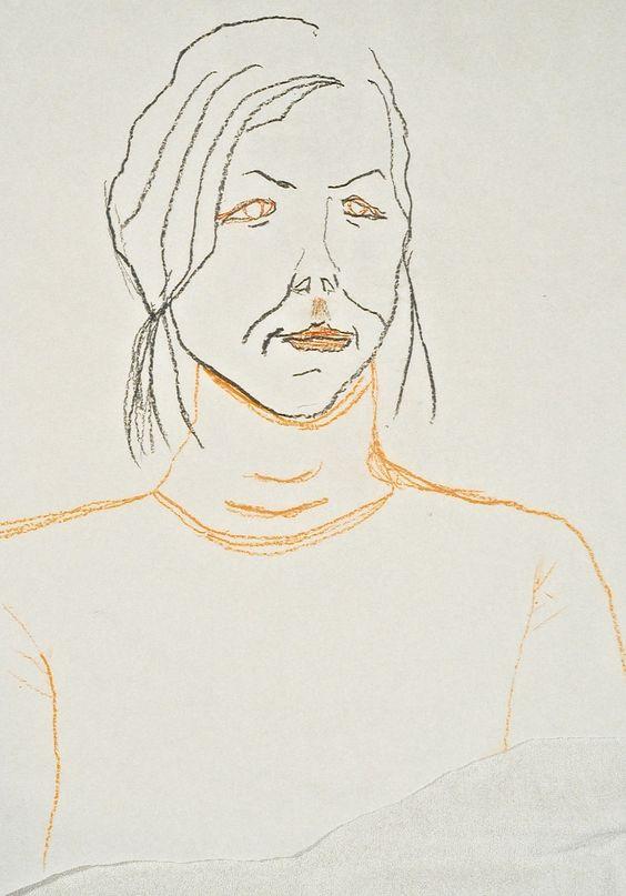 Art class #portrait #drawing #teckning #porträtt