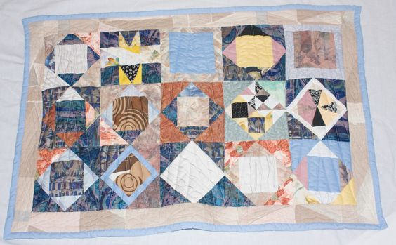 small quilt inspired by a tiled floor at hercolaneum