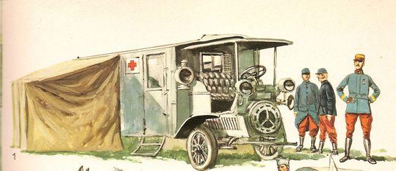 Carro de Ambulância, França.