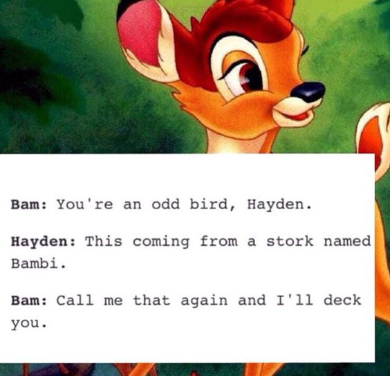 Awwww Bambi :)