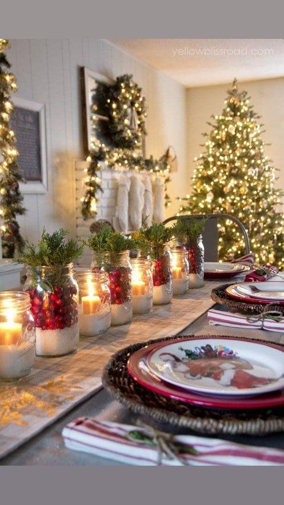 Como Decorar Mi Mesa Para Navidad
