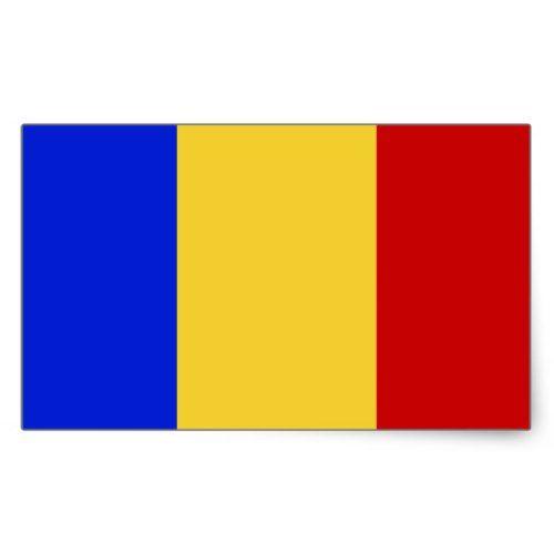Flag Of Romania Rectangular Sticker Romania Flag Personalized Custom Custom Stickers