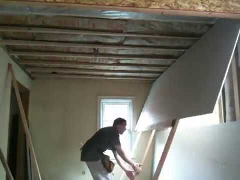 10 Minute Diy Drywall Lift With Hinges And 2x4 Youtube In 2020 Drywall Lift Drywall Hinges