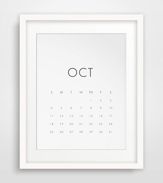 Minimalist Calendar Design : Wall calendar monthy printable