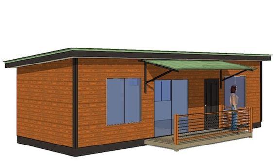 Zipkit homes skyline 14000 400 sq ft small cabin for 400 sq ft cabin