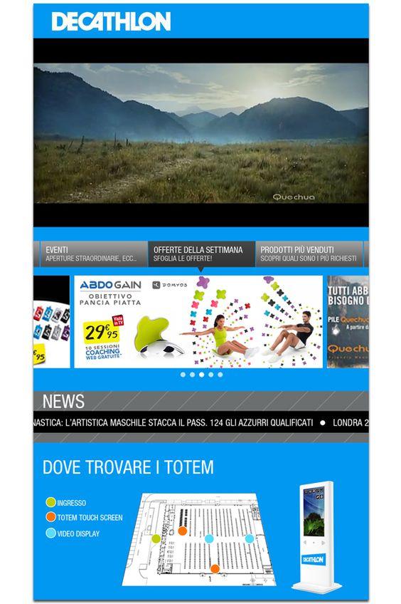 Digital Signage UI for DECATHLON by Erika Giulianini, via Behance