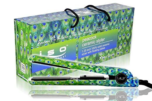 Iso Beauty Hair Iron Ceramic Peacock Review Ceramic Straightener Beauty Hair Beauty