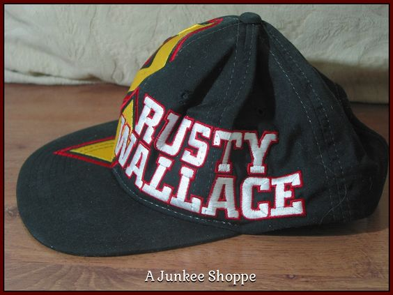 RUSTY WALLACE 1996 Miller Beer #2 Nascar Racing Midnight Black Cap Hat Unused  Junk0923  http://ajunkeeshoppe.blogspot.com/