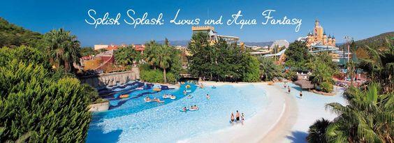 """Einer der größten und besten #Wasserparks in der #Türkei, ein Paradies für Wassernixen direkt am Strand. Das Aqua Fantasy Hotel***** ist zum dritten mal in Folge das beste """"Splash-Hotel"""" weltweit.     7 Übernachtungen im 5* Hotel, inkl. Flüge und All Inclusive Verpflegung ab 599,- € pro Person."""