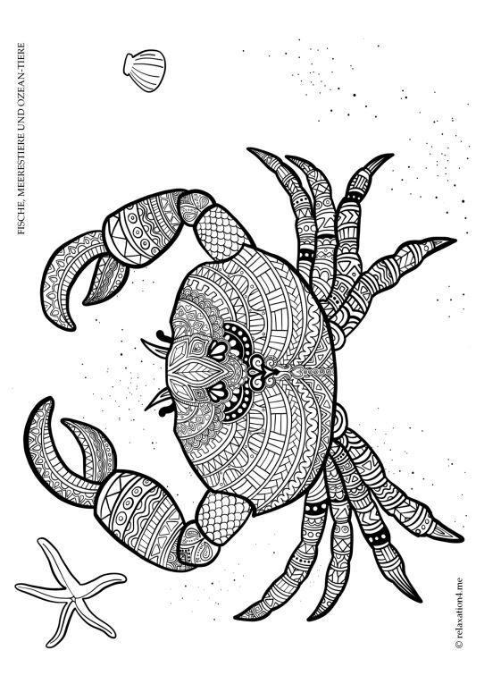 Pin Auf Kostenlos Zum Selber Machen Anti Stress Unterwasserwelt Malbuch Fur Erwachsene Fische Meerestiere Und Ozean Tiere Entspannung Meditati