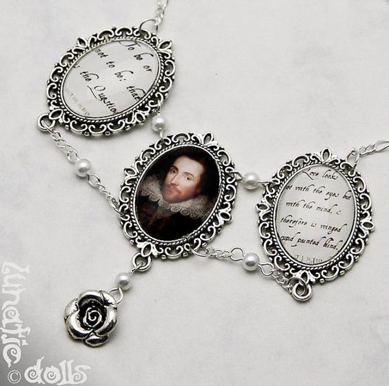 William Shakespeare Necklace Hamlet by LunaticDolls on Etsy