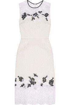 Erdem Kent lace-paneled cotton-blend matelassé dress | THE OUTNET