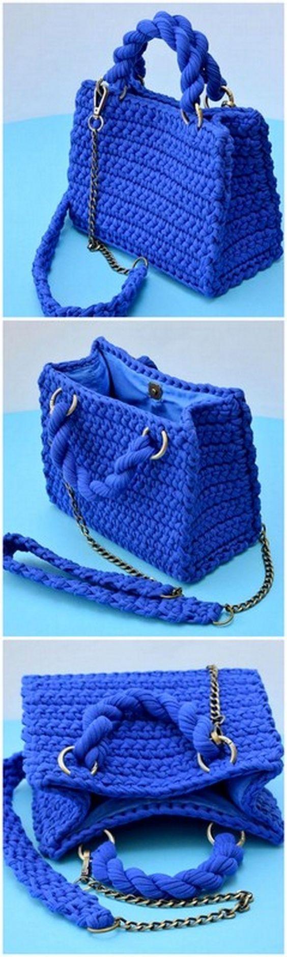 appealing crochet handbag idea