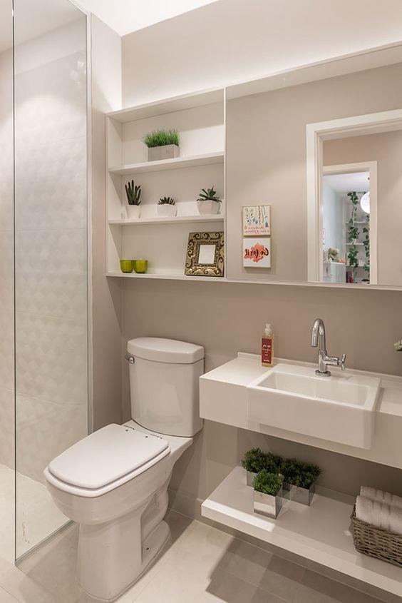 Inspirações e dicas para o banheiro perfeito - Nichos e armários