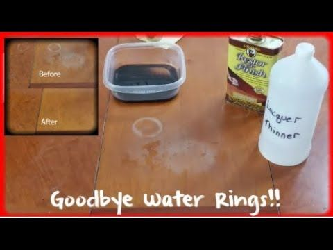 How To Remove White Water Rings From Wood Heat Stains From Wood