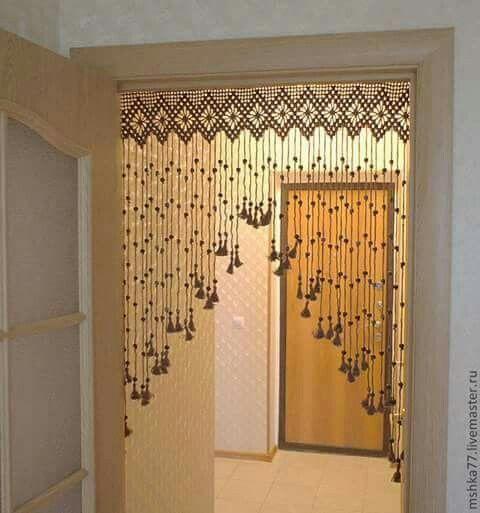 Cortina ideas para el hogar pinterest ganchillo - Bandos para cortinas ...