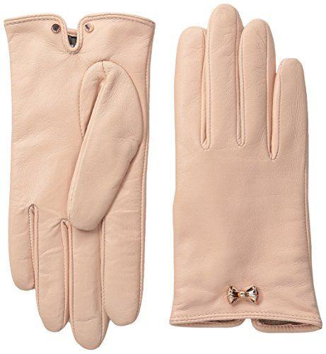 Ted Baker London Women's Avia Bow Wrist Detail Leather Gl...