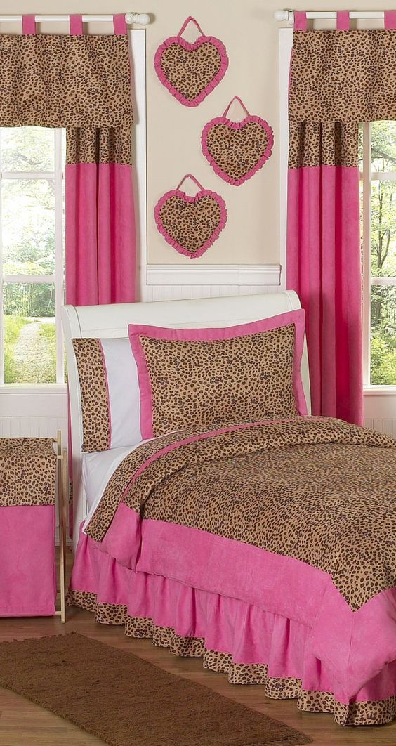 Jojo Cheetah Pink Girls Bedrooms Girls Bedding Amp Room