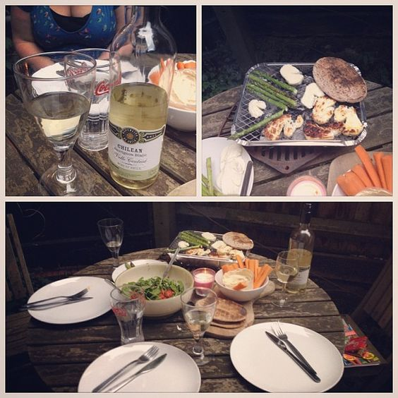 We had a veggie BBQ. It was nice, but to be completely honest, I missed the meeeeeat.