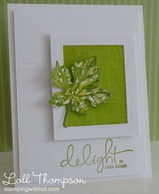 Stamping with Loll: Delight in Little Things