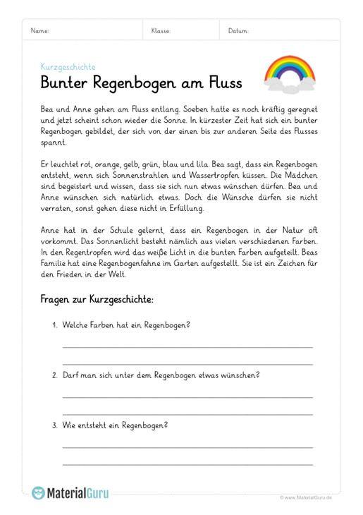 Ein Kostenloses Arbeitsblatt Zum Thema Kurzgeschichten Auf Dem Die Schuler Ein Beispiel Mit Einer Kurzgesc Kurzgeschichten Deutsch Lernen Kinder Deutsch Lesen