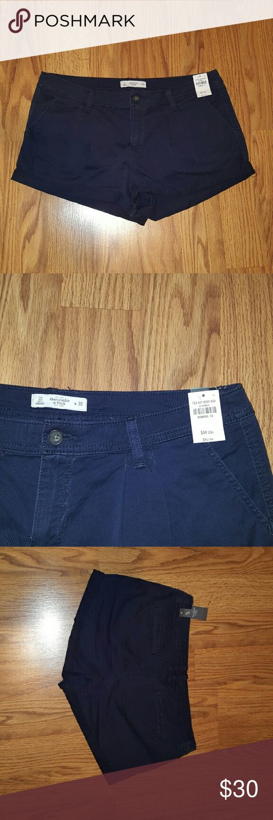 Bnwt womens Abercrombie shorts Brand new womens Abercrombie shorts size 10 waist size 30. Pet and smoke free home. Fabric: 98% cotton 2% Elastine. Posted on other sites.  Cheaper on Mer_ca_ri Abercrombie & Fitch Shorts