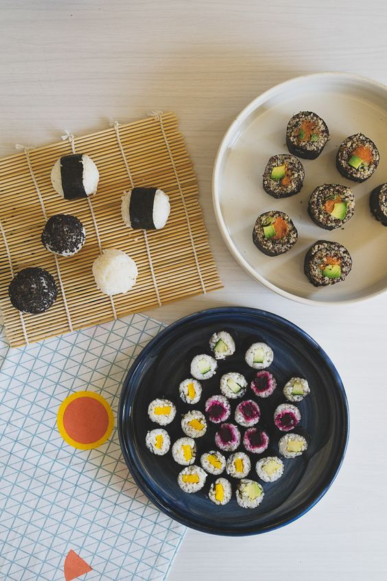 Sushi Balls, Sushi Maki + Quinoa Sushi featured in Lunch Lady Issue Two. Lunch Lady Magazine available at http://shop.hellolunchlady.com.au/