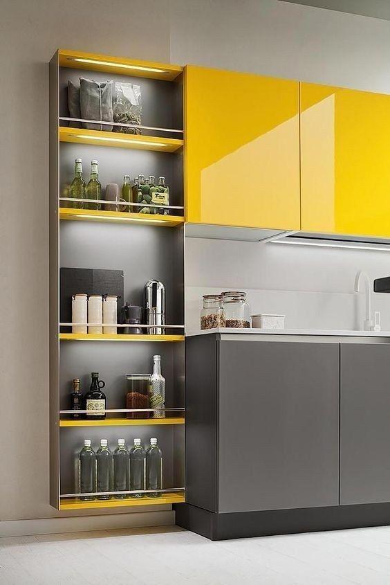 46 Modern Kitchen To Not Miss Today #kitchencabinets  #cocinas  #kitchen  #kitchendecor