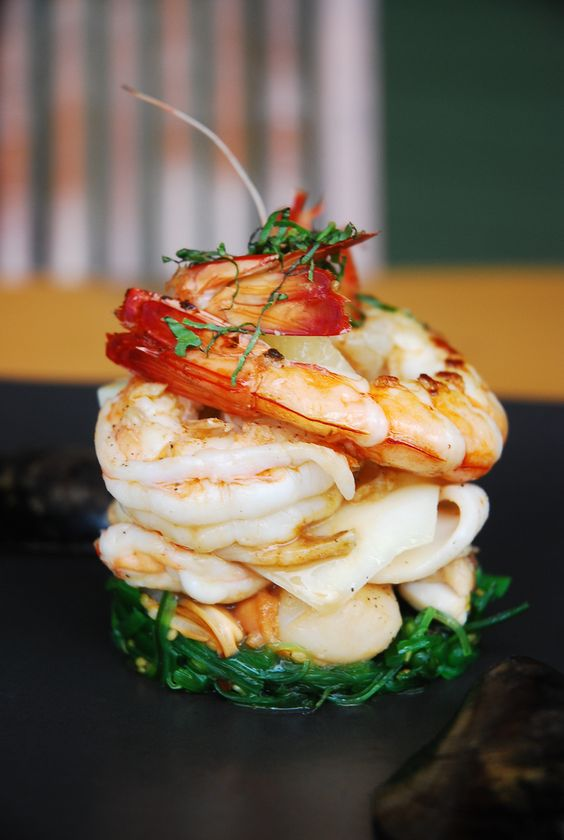 Shrimp fine dining and canapes on pinterest for Shrimp canape ideas